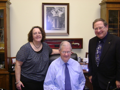 Dan and Phyllis Hall meet with Rep. Ike Skelton (MO-4)