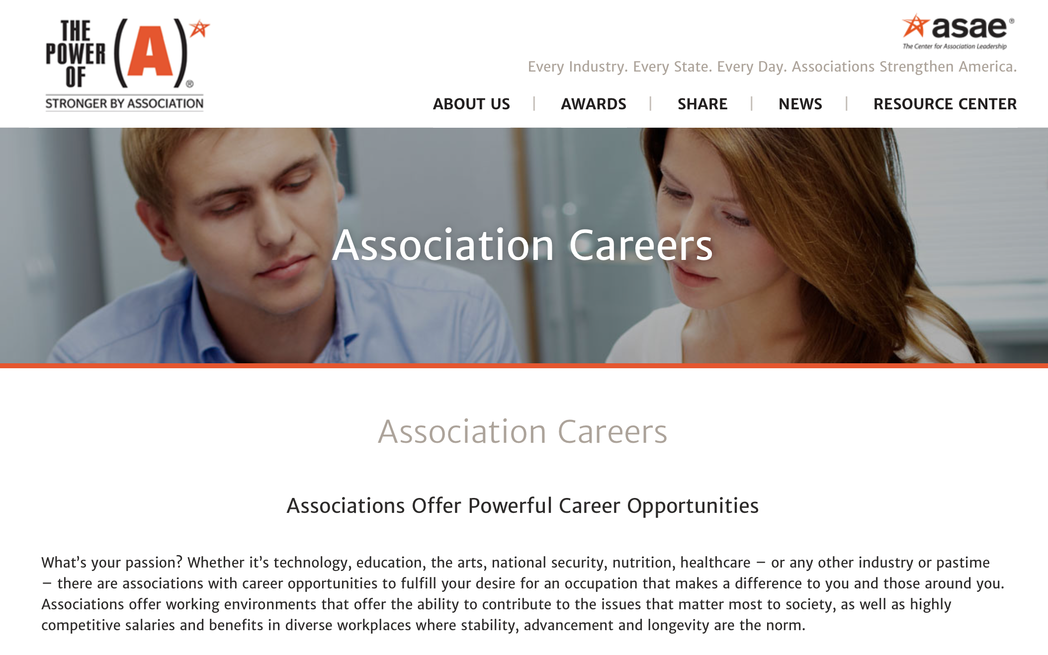 Associations Careers Page